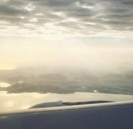 Above the Arabian Sea